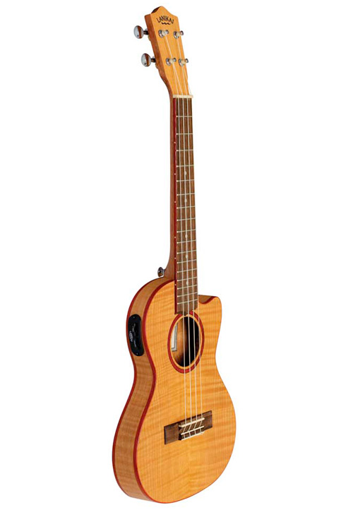 Lanikai Adds Two Thin Body Ukuleles To Flame Maple Series